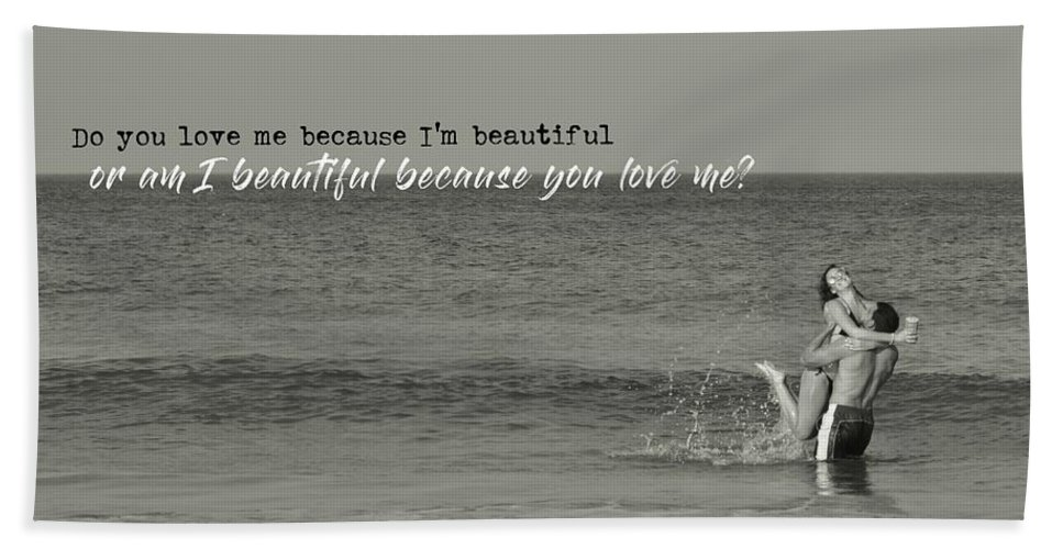 Love Beach Sheet featuring the photograph Love Birds Quote by JAMART Photography