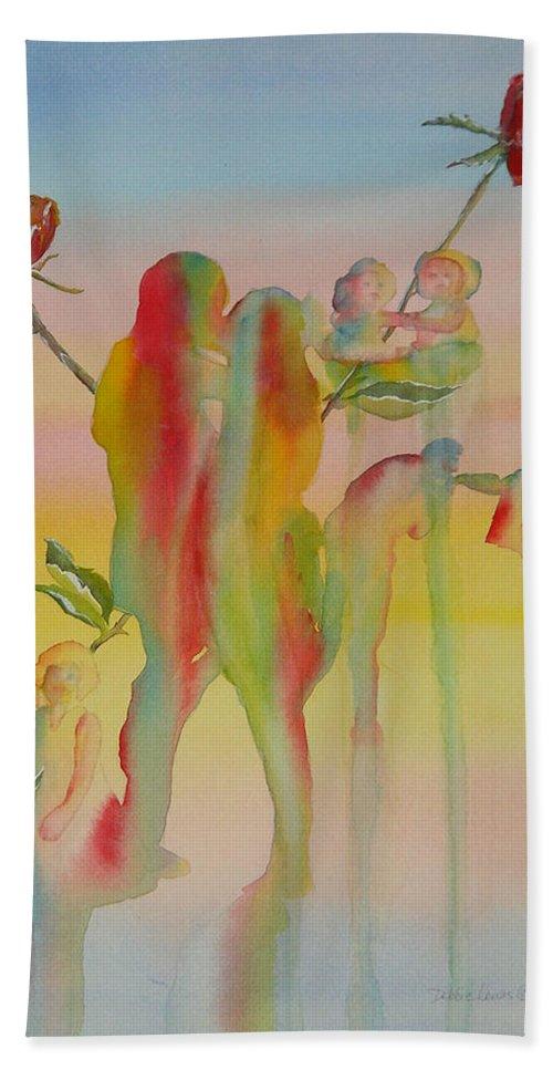 Love Beach Towel featuring the painting Love Is Eternal by Debbie Lewis