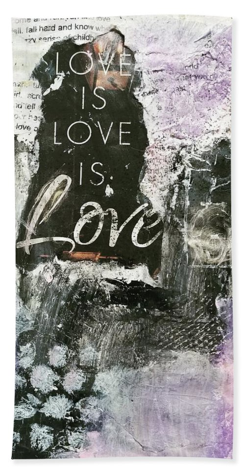 Love Beach Towel featuring the painting Love is Love by Patricia Byron
