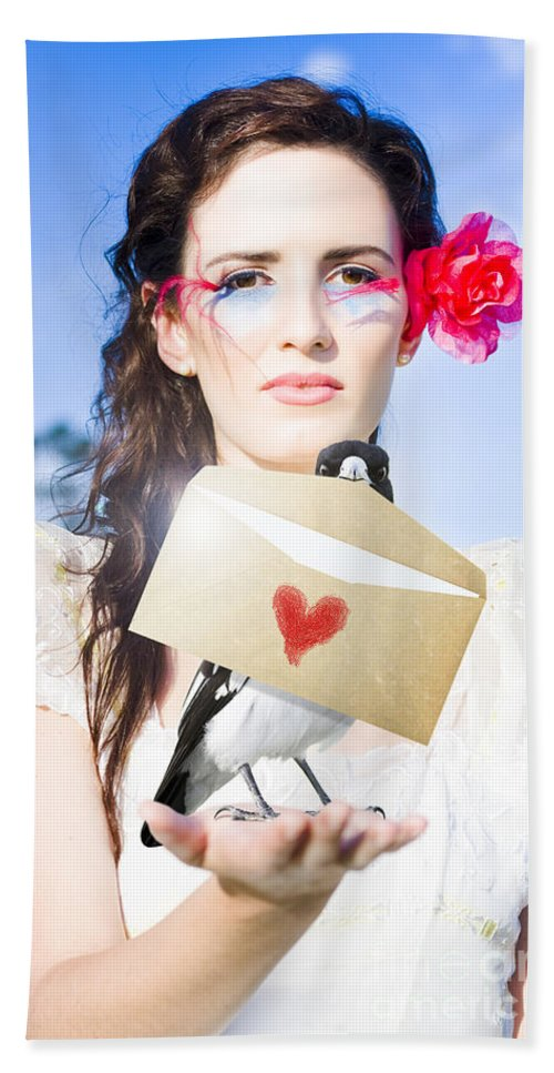 Send Beach Towel featuring the photograph Love Note Delivery From The Heart by Jorgo Photography - Wall Art Gallery