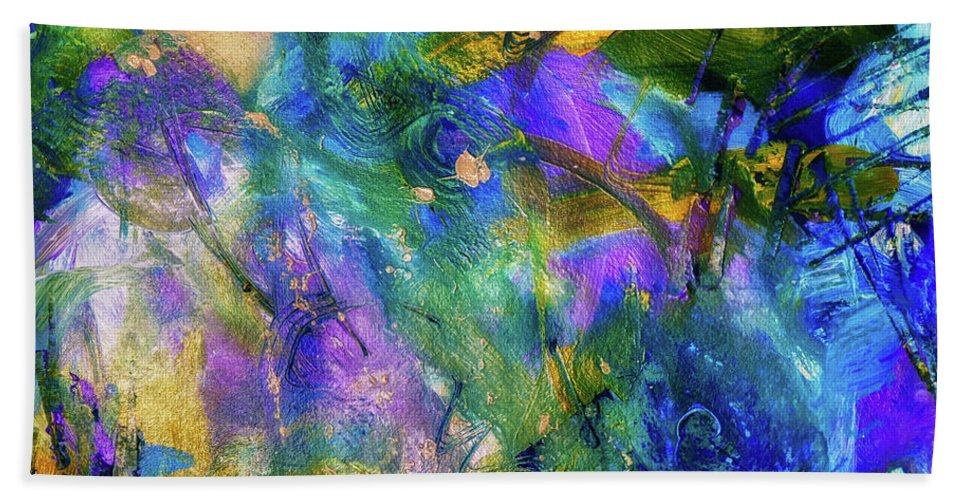 Colorful Beach Towel featuring the painting Love The Moments by Francine Collier