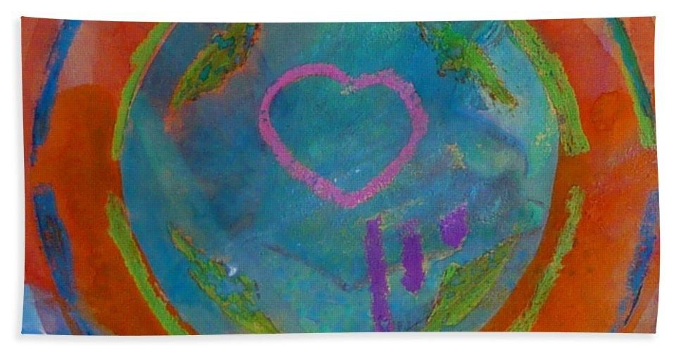 Logo Beach Towel featuring the painting Love The Sea by Charles Stuart