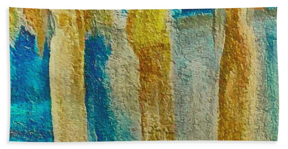 Mixed Media Beach Towel featuring the mixed media Love Triangle by Dragica Micki Fortuna