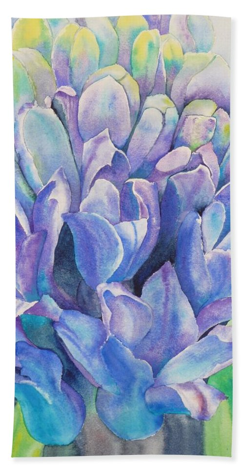 Flower Beach Towel featuring the painting Lovely Lupine by Ruth Kamenev