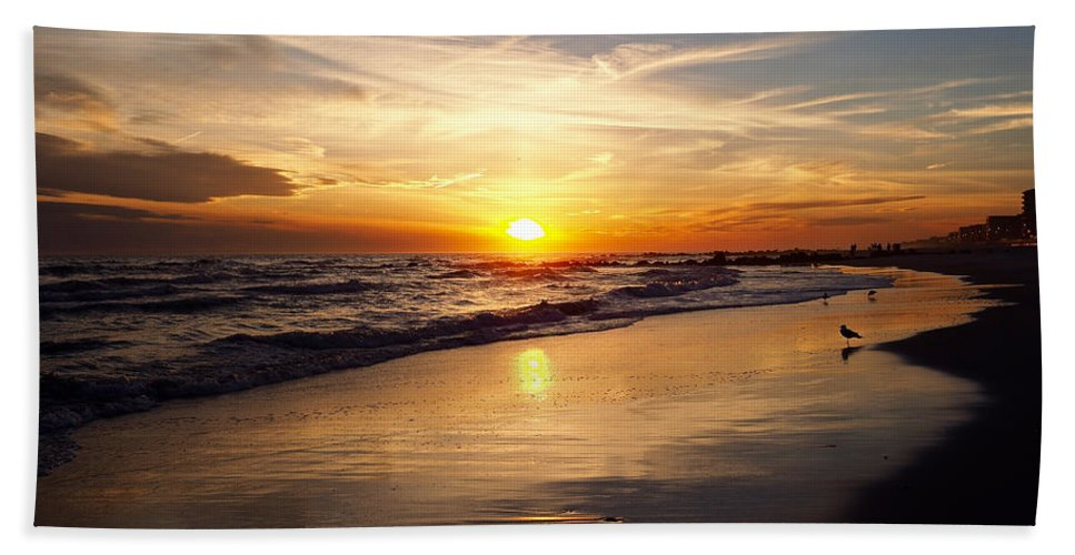 Long Beach Towel featuring the photograph Lovely Sunset by Patrick Byrnes