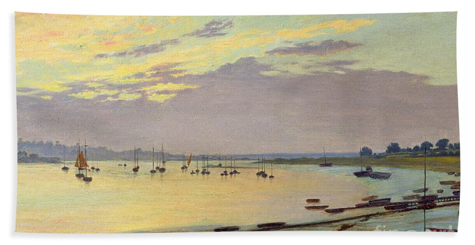 Low Beach Towel featuring the painting Low Tide by W Savage Cooper