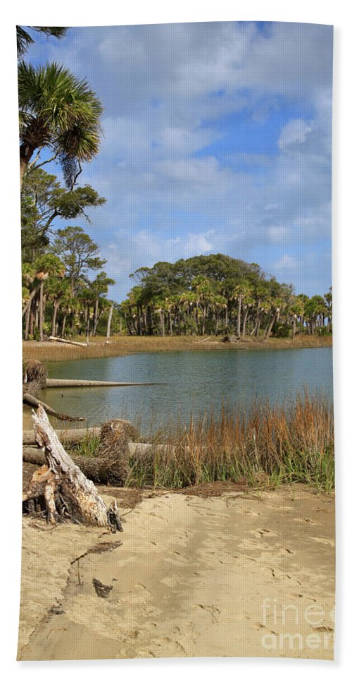Lagoon Beach Towel featuring the photograph Lowcountry Lagoon by Louise Heusinkveld