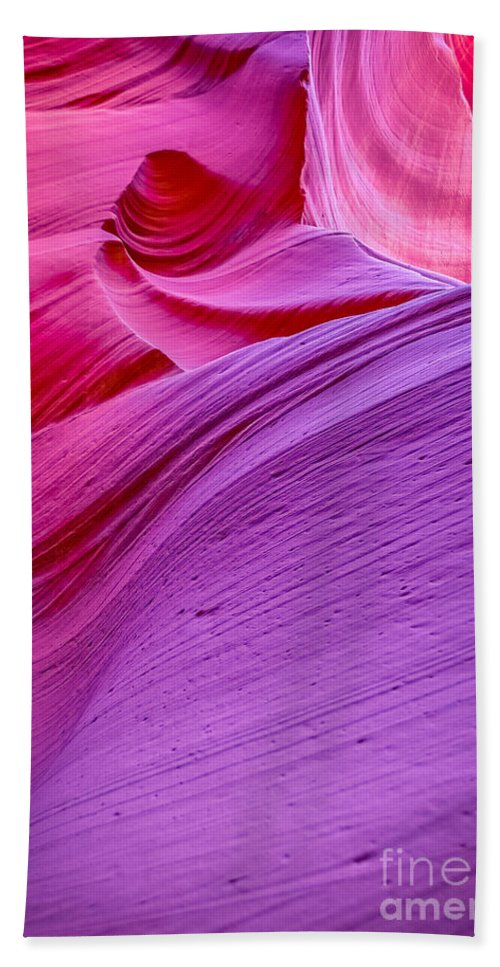Antelope Canyon Beach Towel featuring the photograph Lower Canyon 30 by Larry White