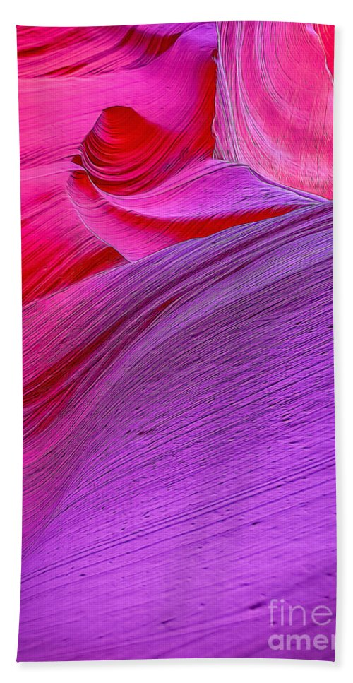 Antelope Canyon Beach Towel featuring the photograph Lower Canyon 31 by Larry White