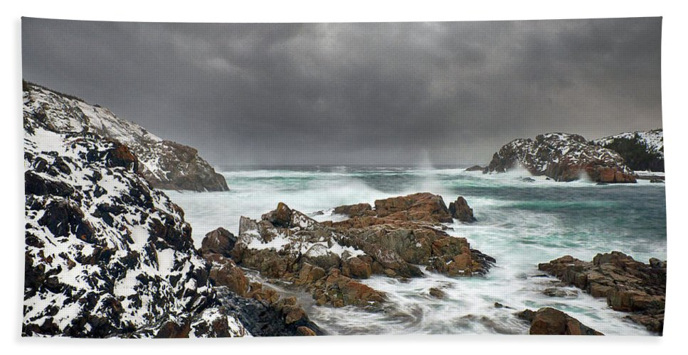 Lowerlittleharbour Beach Towel featuring the photograph Lower Little Harbour by Spencer Dove