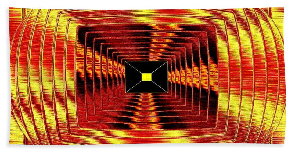 Abstract Beach Towel featuring the digital art Luminous Energy 12 by Will Borden