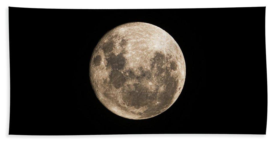 Lunar Beach Towel featuring the photograph Lunar Perigee by Andrew Paranavitana