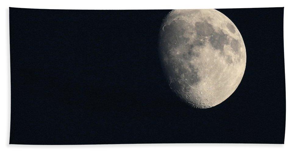 Moon Beach Towel featuring the photograph Lunar Surface by Angela Rath