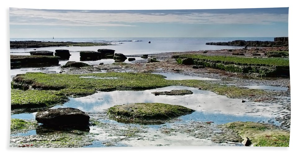 Lyme-regis Beach Towel featuring the photograph Lyme Regis Seascape 4 - October by Susie Peek