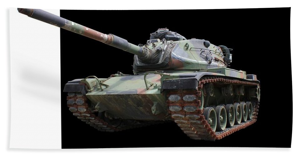 Tank Beach Towel featuring the photograph M48a2 Tank by Betty Northcutt