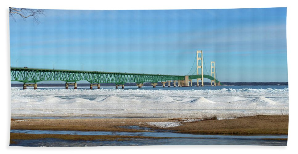 Michigan Beach Towel featuring the photograph Mac by Linda Kerkau
