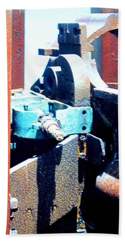 Rust Beach Towel featuring the photograph Machinery by Ian MacDonald
