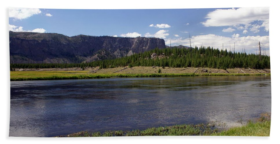 Madison River Beach Towel featuring the photograph Madison River Valley by Marty Koch