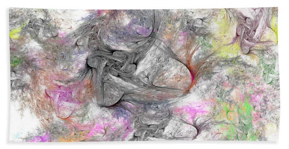 Digital Painting Beach Towel featuring the digital art Madonnas by David Lane