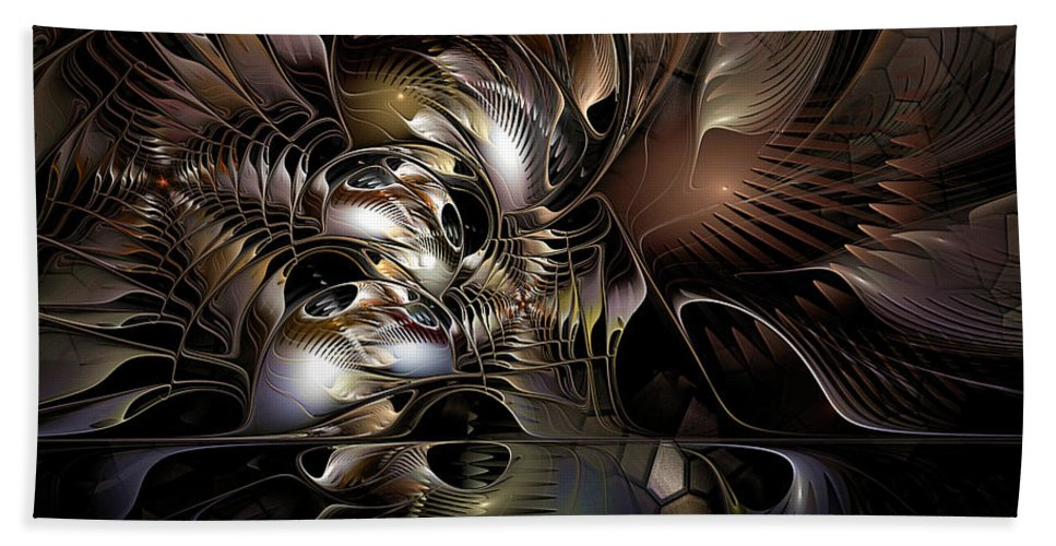Abstract Beach Towel featuring the photograph Maelstrom In The Myringa by Casey Kotas