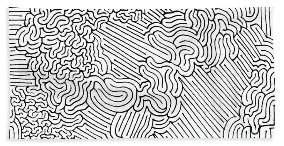 Mazes Beach Towel featuring the drawing Maelstrom by Steven Natanson