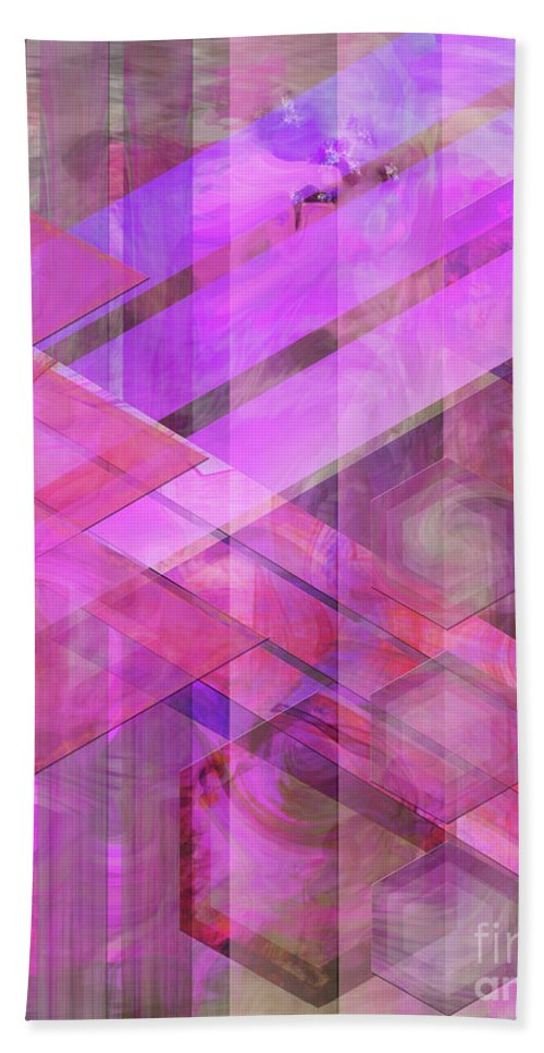Magenta Haze Beach Towel featuring the digital art Magenta Haze by John Beck