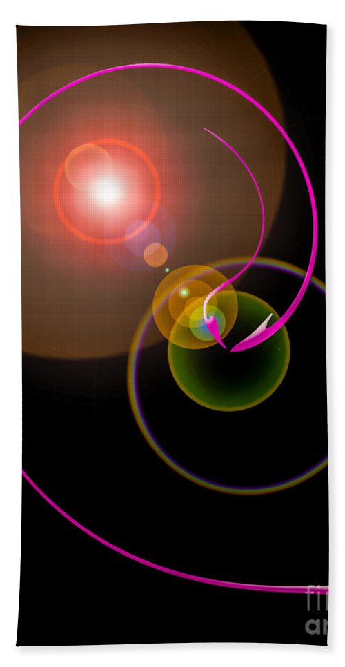 Magical Beach Towel featuring the painting Magical Light And Energy 4 by Walter Zettl