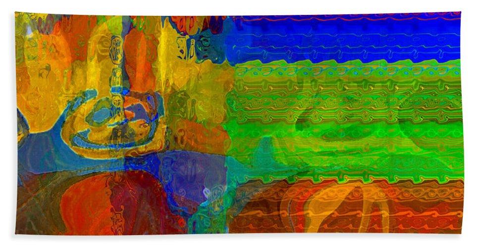 Yellow Beach Towel featuring the digital art Magical Multi by Ruth Palmer