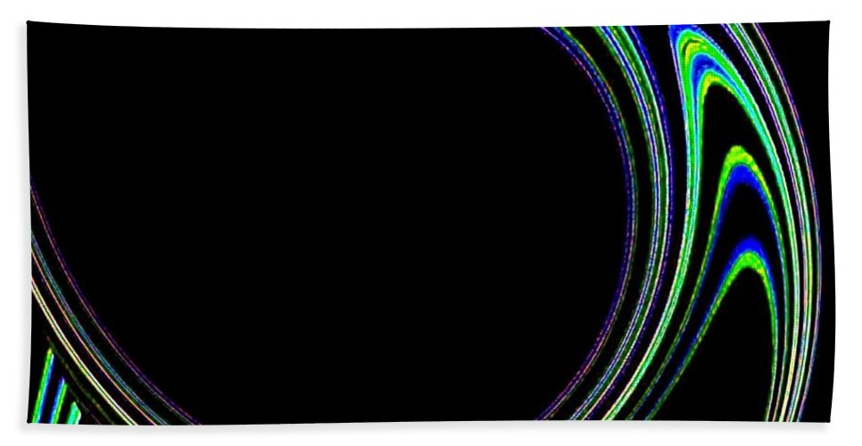 Cosmic Beach Towel featuring the digital art Magnetic Forces by Will Borden