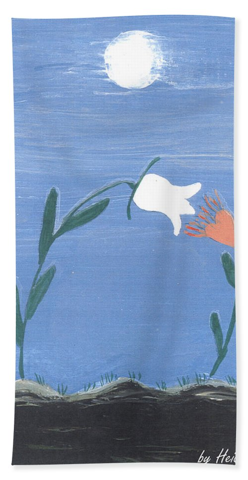 Magnetism Love Beach Towel featuring the painting Magnetism Love by Heidi Sieber