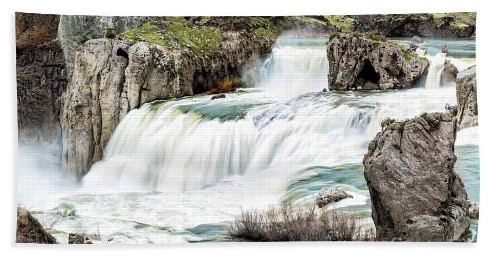 Magnificence Beach Towel featuring the photograph Magnificence Of Shoshone Falls by Daryl L Hunter