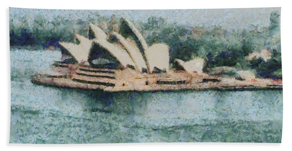 Sydney Beach Towel featuring the photograph Magnificent Sydney Opera House by Ashish Agarwal