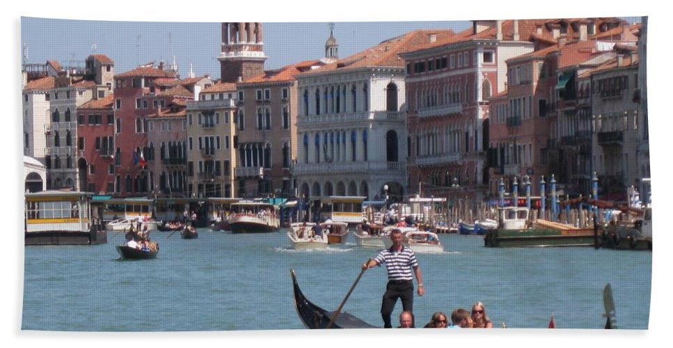 Venice Italy Beach Towel featuring the photograph Main Canal Venice Italy by John Malone