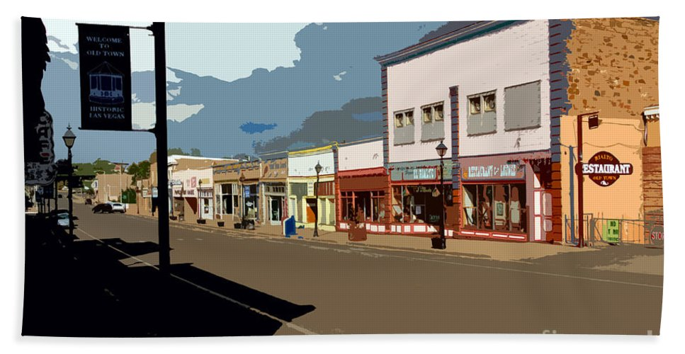 Main Street Beach Towel featuring the painting Main Street by David Lee Thompson