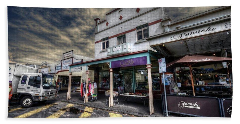 Queenscliff Beach Towel featuring the photograph Main Street Jive by Wayne Sherriff