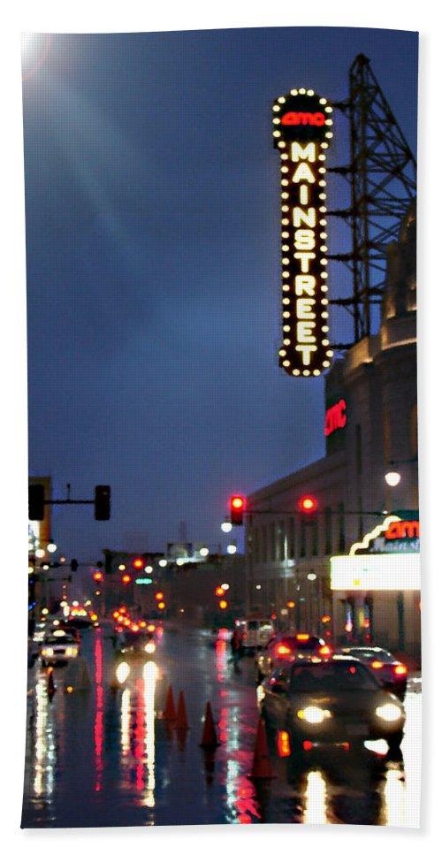 Landscape Beach Towel featuring the photograph Main Street Kansas City by Steve Karol
