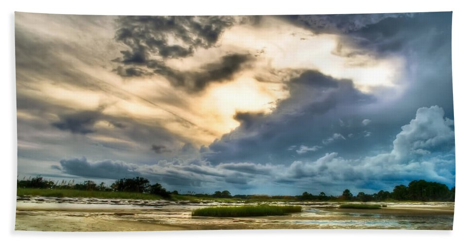 Beach Beach Towel featuring the photograph Majestic Sky by Rich Leighton