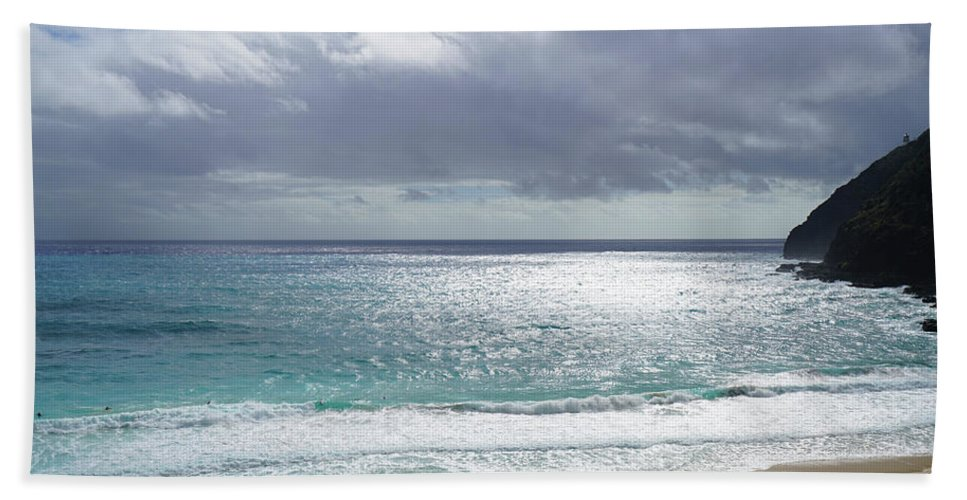 Makapuu Beach Beach Towel featuring the photograph Makapuu Beach Oahu Hawaii by Kevin Smith