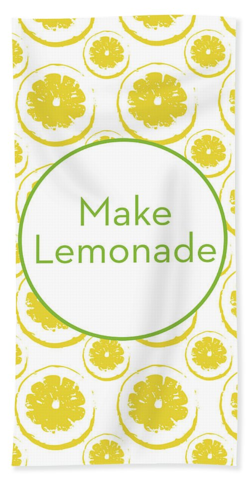 Lemons Beach Towel featuring the mixed media Make Lemonade 3- Art By Linda Woods by Linda Woods