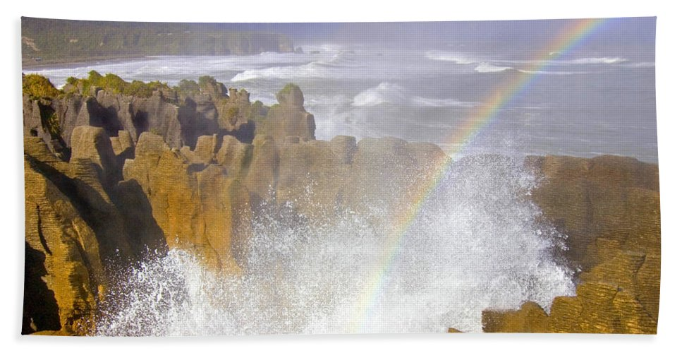 Paparoa Beach Towel featuring the photograph Making Miracles by Mike Dawson