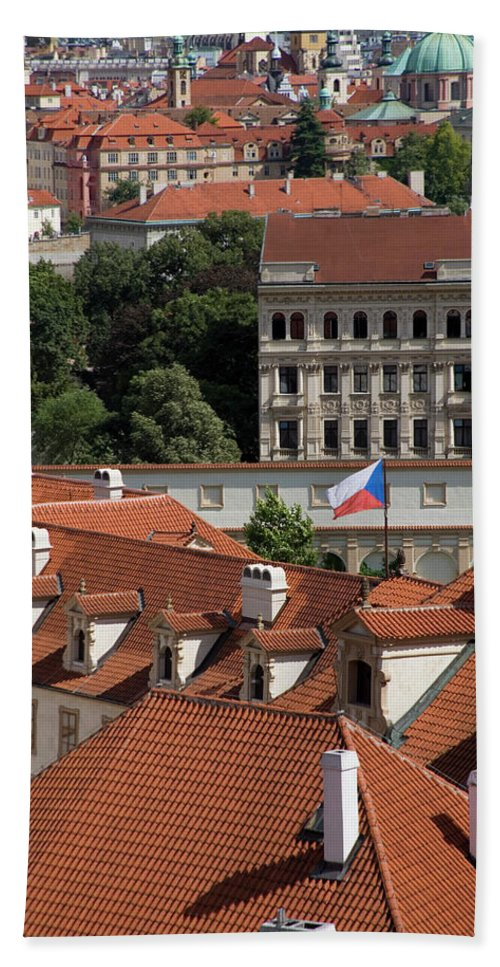 Prague Cityscape Beach Towel featuring the photograph Mala Strana by Diane Macdonald
