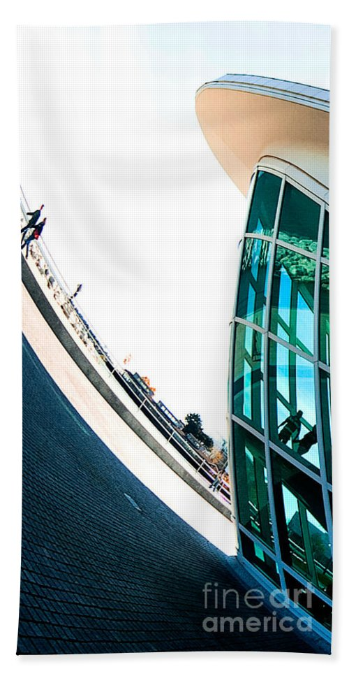 Milwaukee Beach Towel featuring the photograph Mam Curved by Steven Dunn