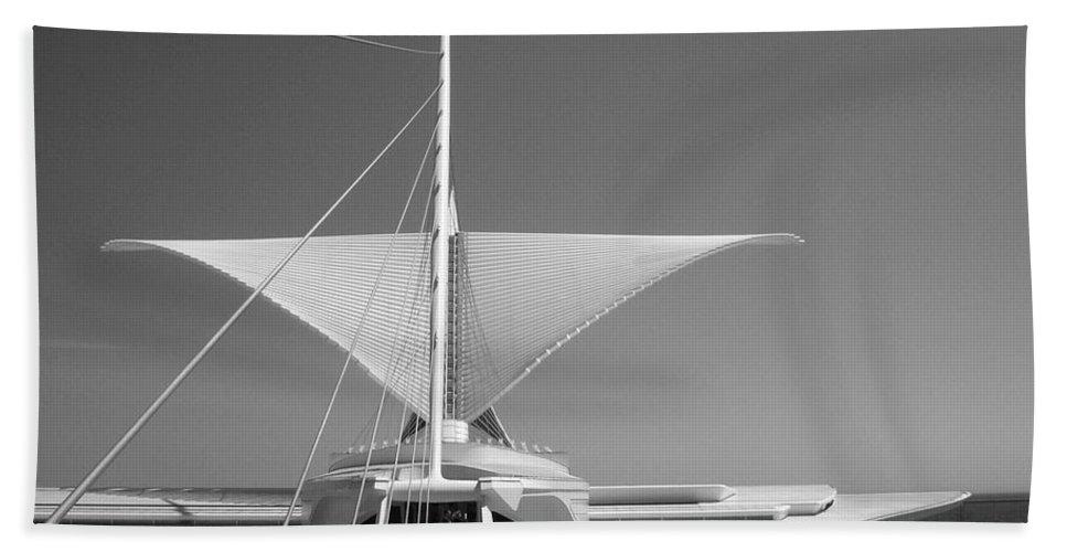 Mam Beach Sheet featuring the photograph Mam Wings Spread B-w by Anita Burgermeister