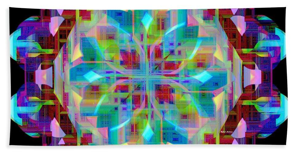 Mandalas Beach Towel featuring the digital art Mandala 9725 by Rafael Salazar