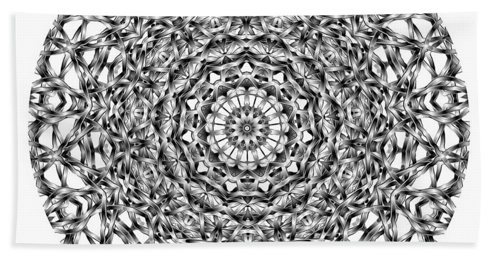 Talisman Beach Towel featuring the digital art Mandala - Amulet 867 For Those Born In ..... by Marek Lutek