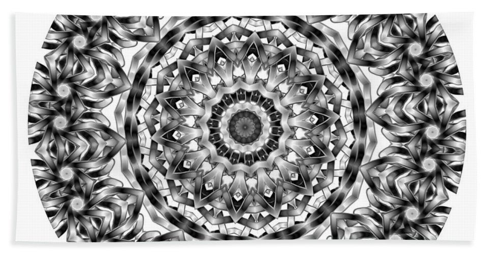 Amulet Beach Towel featuring the digital art Mandala - Amulet 871 For Those Born In ..... by Marek Lutek