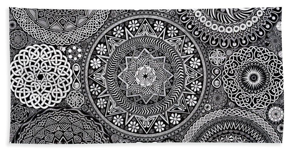 Mandala Bouquet Beach Towel for Sale by Matthew Ridgway