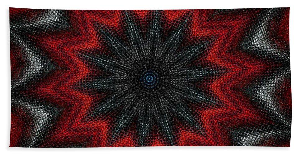 Digital Painting Beach Towel featuring the digital art Mandala by David Lane