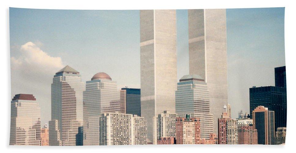 Manhattan Beach Towel featuring the photograph Manhattan Circa 1990 by Lauri Novak