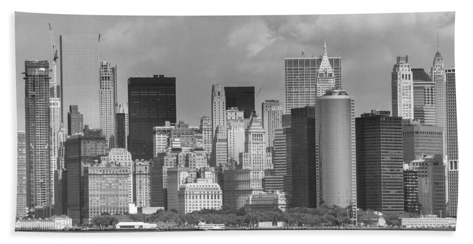 America Beach Towel featuring the photograph Manhattan New York by FL collection